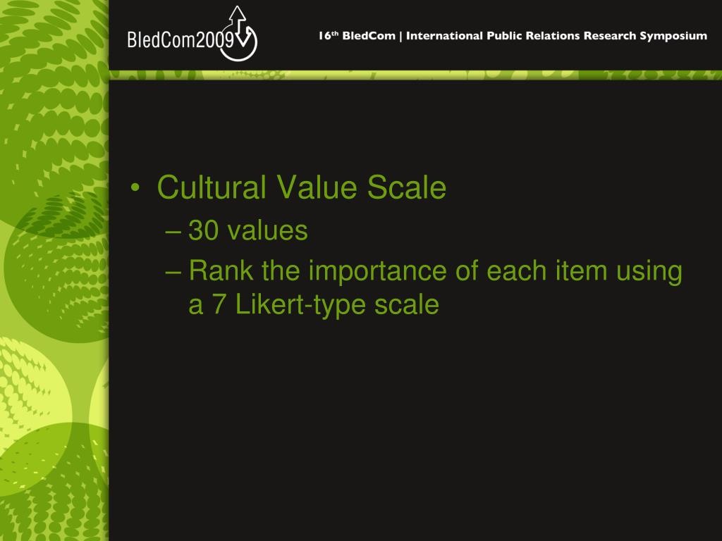 Cultural Value Scale