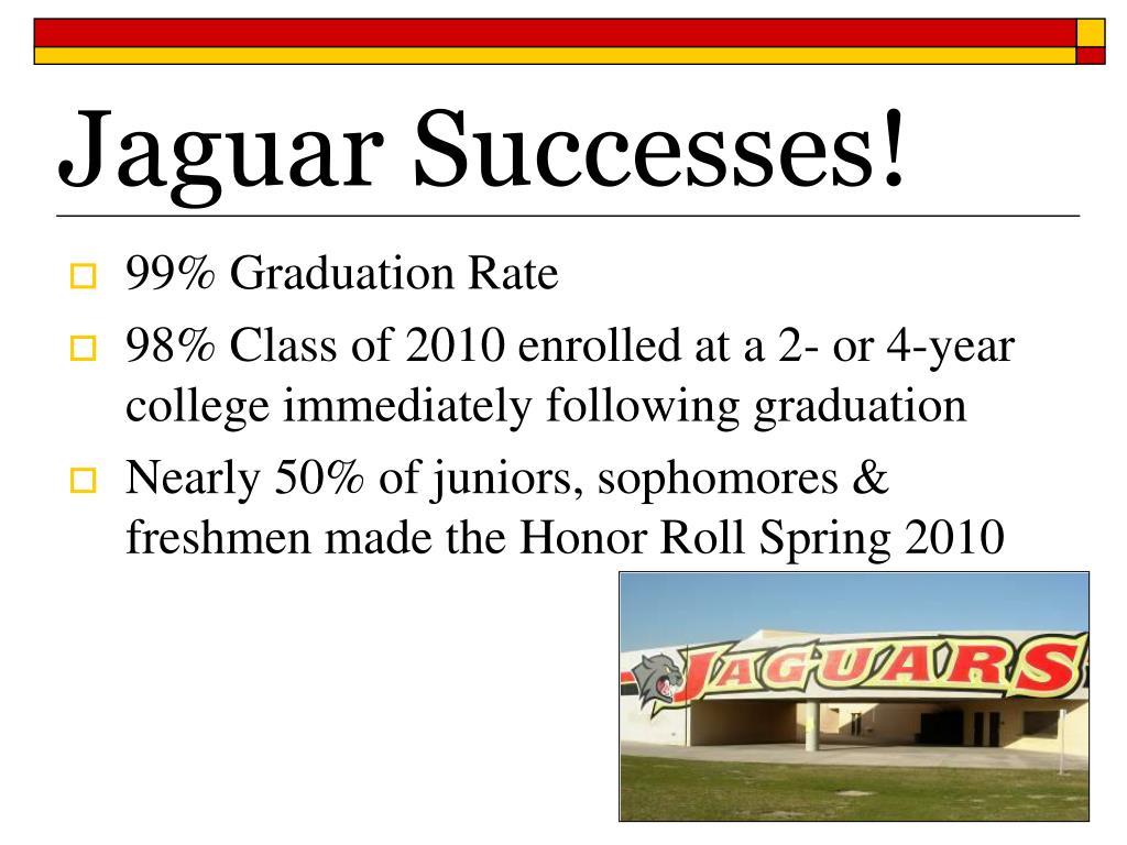 Jaguar Successes!