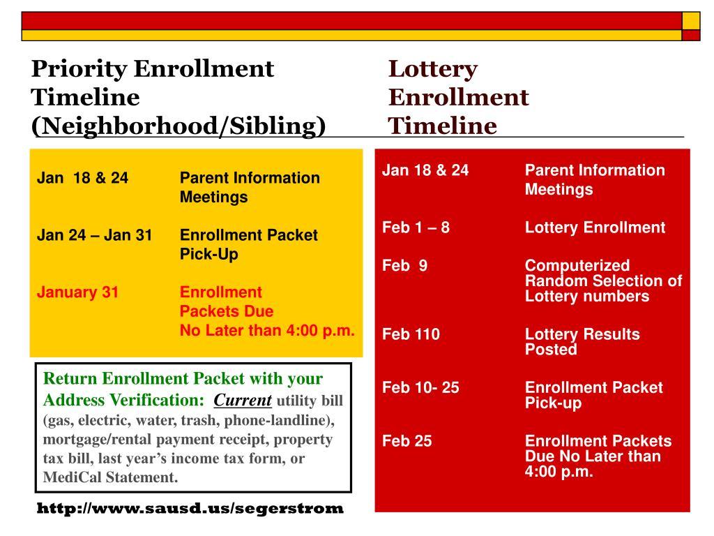 Priority Enrollment