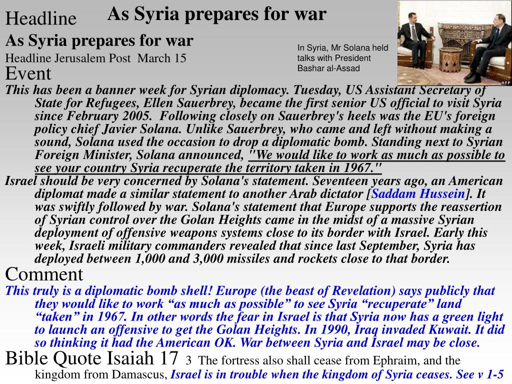 As Syria prepares for war