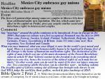 mexico city embraces gay unions