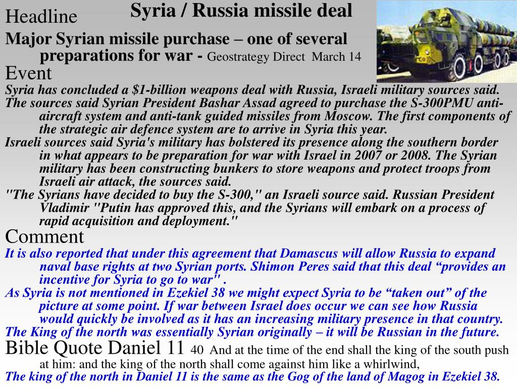 Syria / Russia missile deal