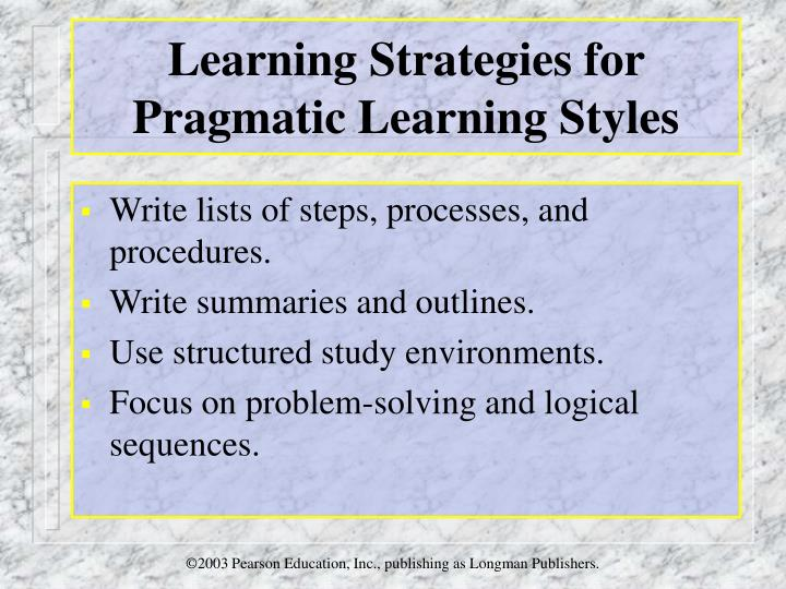 pragmatists learning style