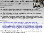 question for voters on eu constitution