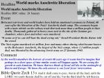 world marks auschwitz liberation