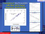 correlation of skin permeability with three mcf partial regression residual plots