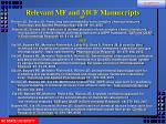 relevant mf and mcf manuscripts