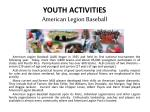 youth activities american legion baseball