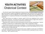 youth activities oratorical contest