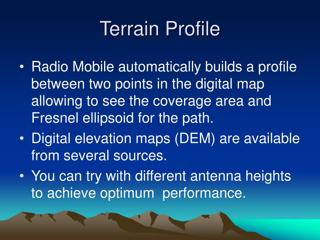 PPT - Radio Mobile PowerPoint Presentation - ID:823964