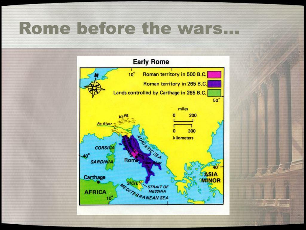 Rome before the wars…