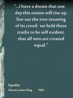equality martin luther king 1963