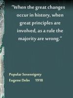 popular sovereignty eugene debs 1918
