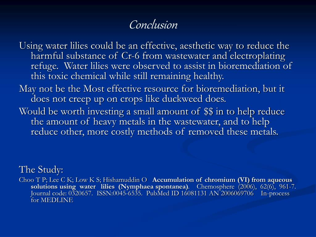 PPT - Chromium-6 and Bioremediation PowerPoint Presentation - ID:824059