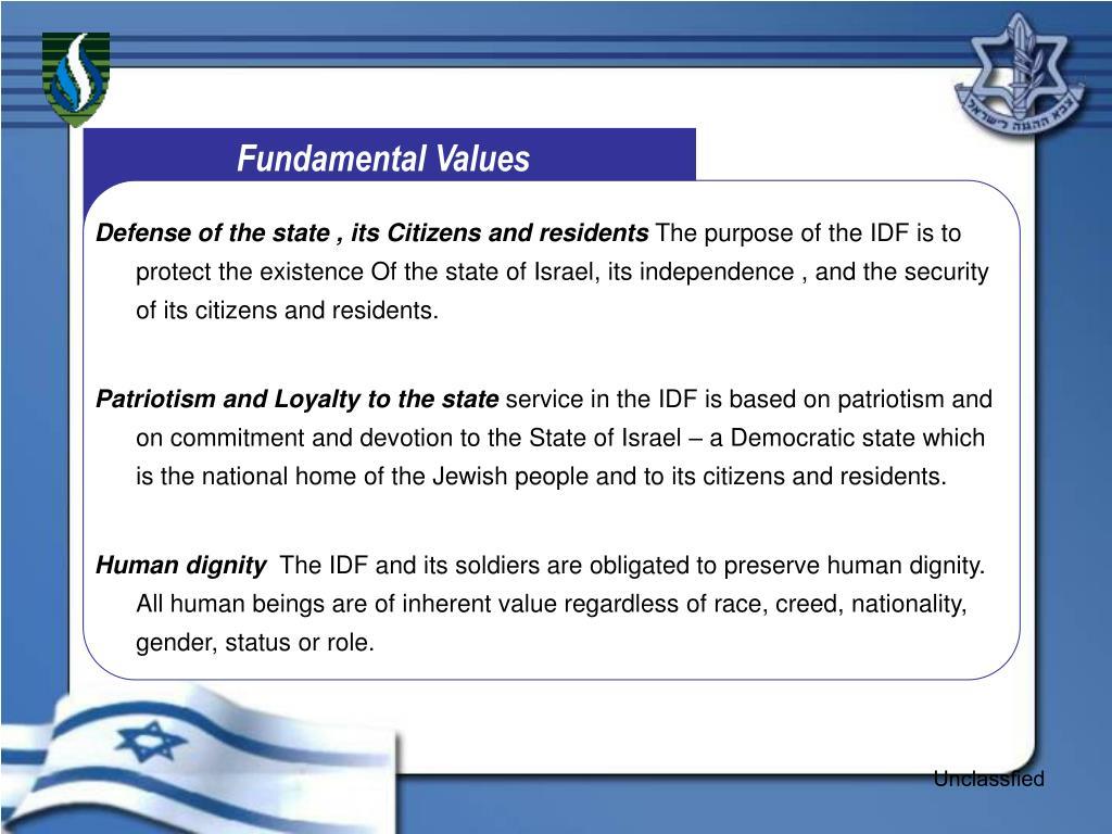 Fundamental Values