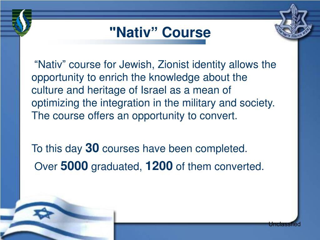 """Nativ"""" Course"""