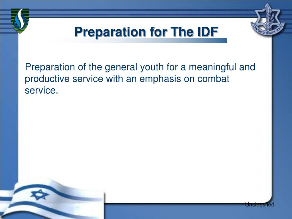 Preparation for The IDF