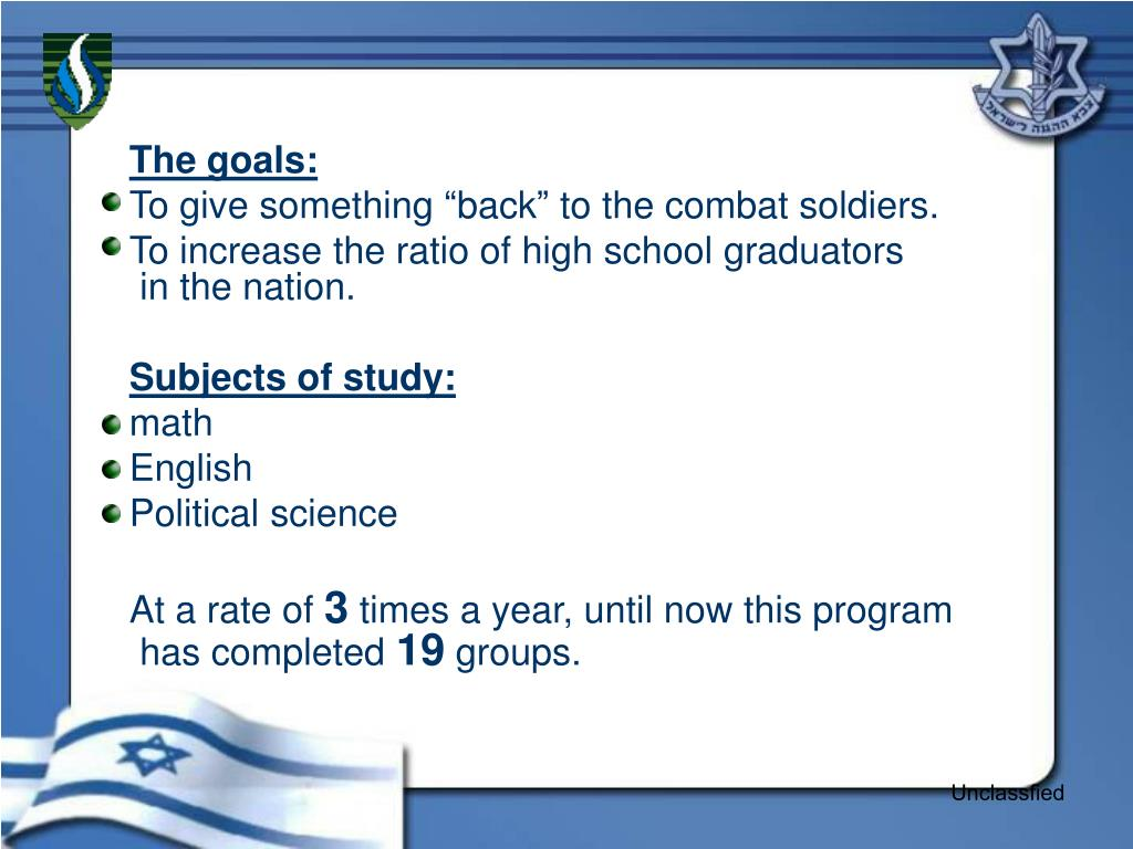The goals: