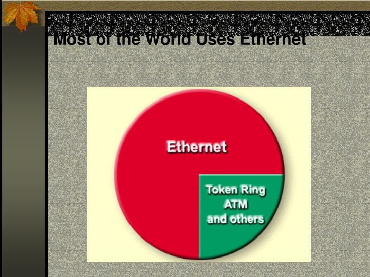 Most of the World Uses Ethernet