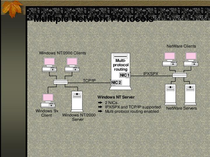Multiple Network Protocols