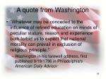 a quote from washington