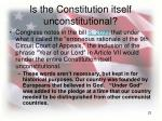 is the constitution itself unconstitutional