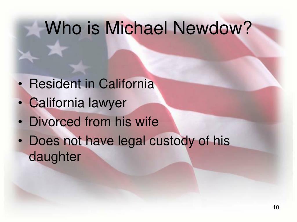 Who is Michael Newdow?