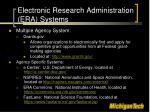 electronic research administration era systems