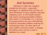 aid societies
