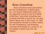 rose greenhow