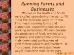 running farms and businesses