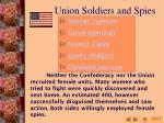 union soldiers and spies