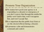 promote your organization