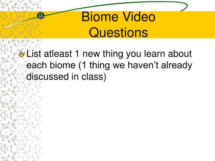 Biome Video
