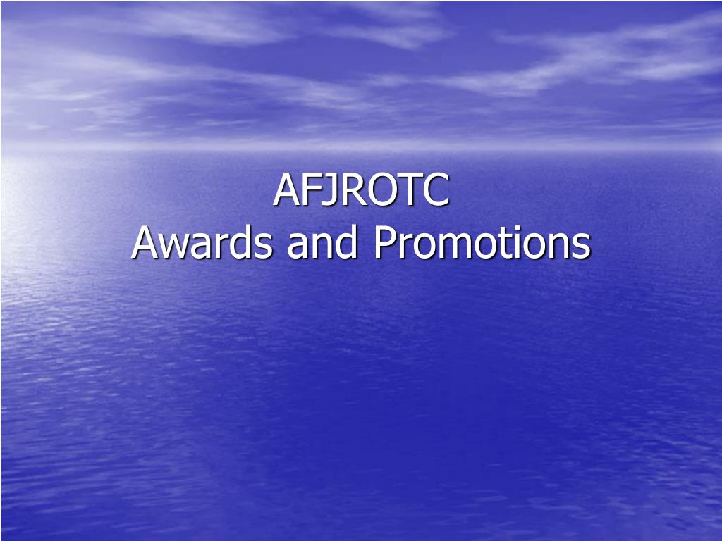 afjrotc awards and promotions l.