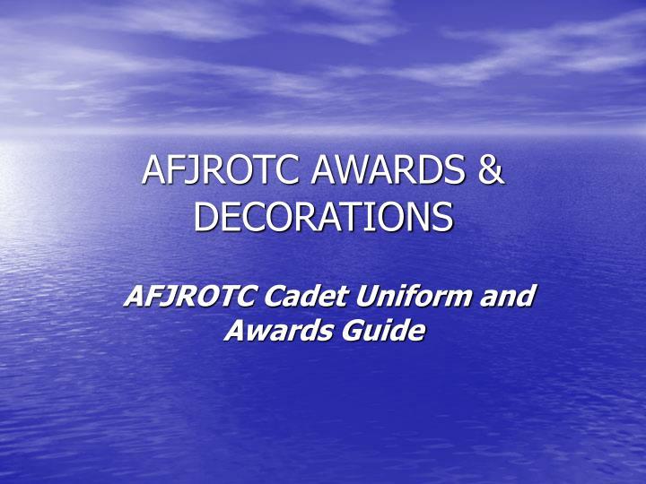 Afjrotc awards decorations