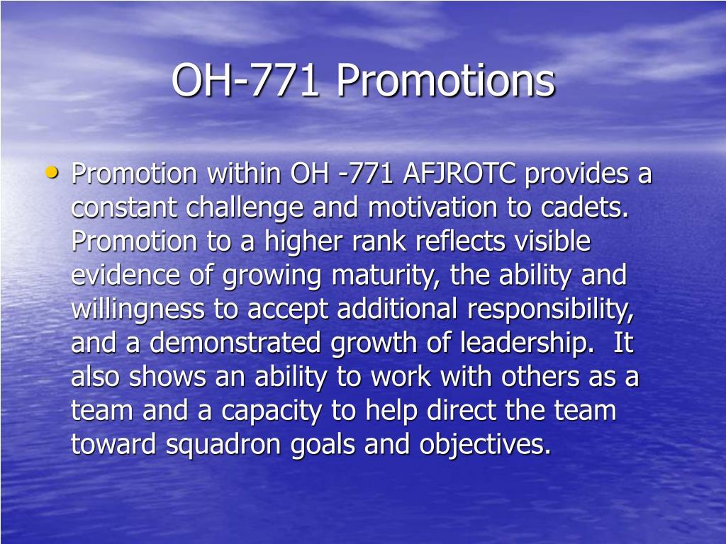 OH-771 Promotions