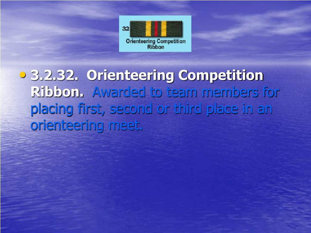 3.2.32.  Orienteering Competition Ribbon.