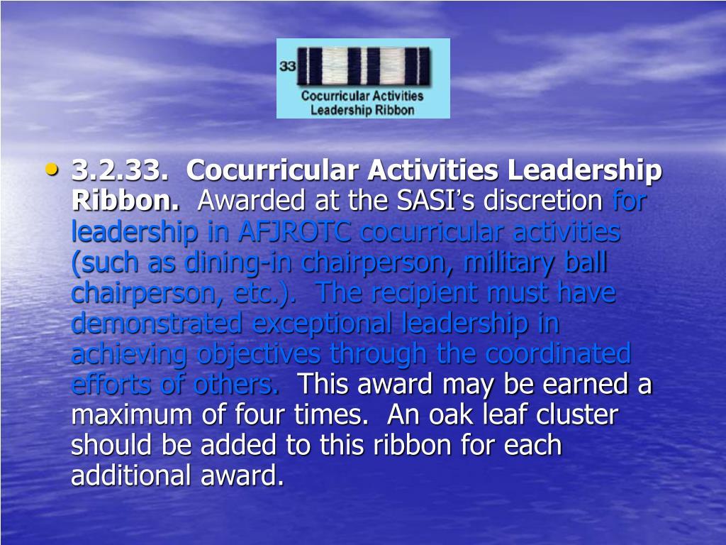 3.2.33.  Cocurricular Activities Leadership Ribbon.