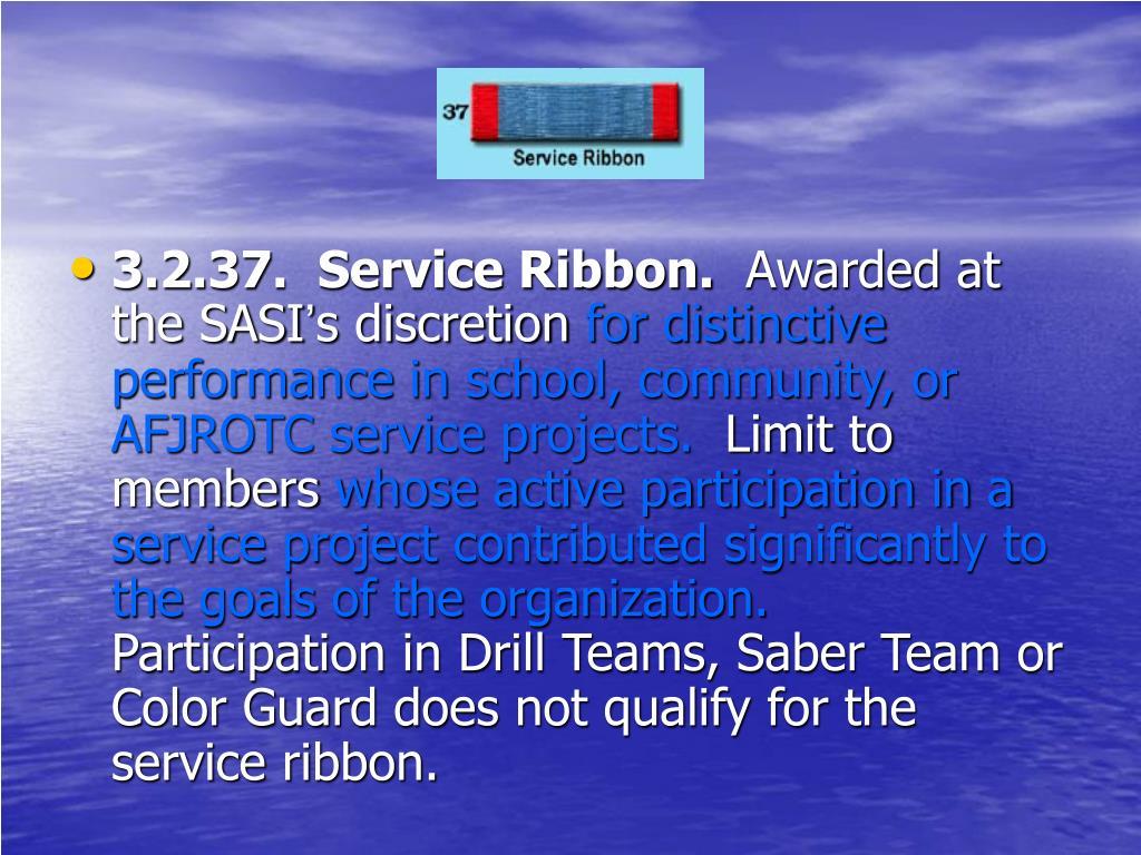 3.2.37.  Service Ribbon.