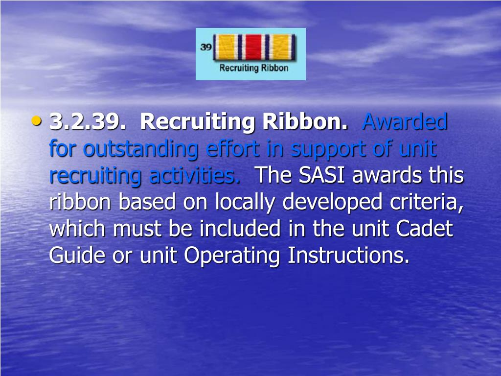 3.2.39.  Recruiting Ribbon.