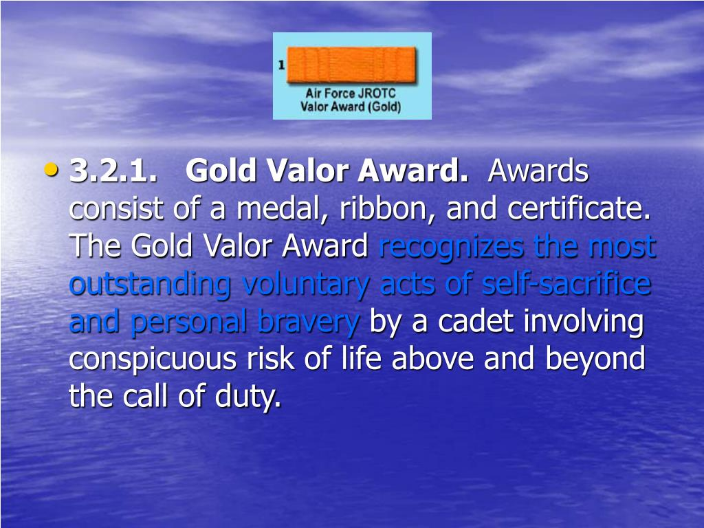 3.2.1.   Gold Valor Award.