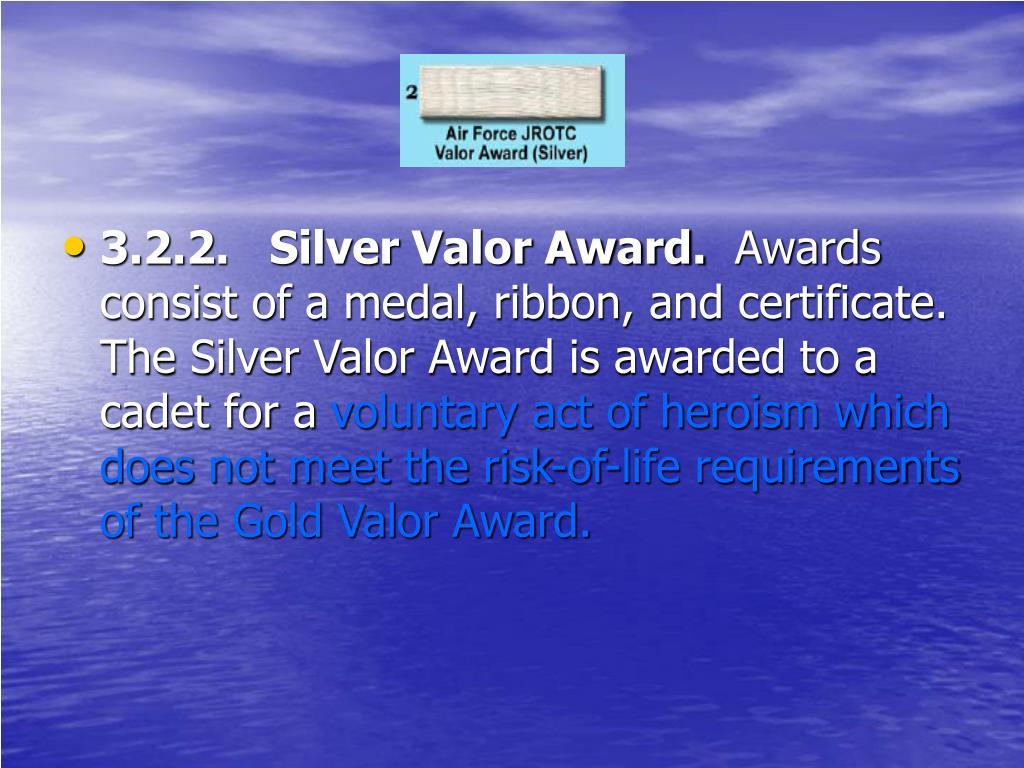 3.2.2.   Silver Valor Award.