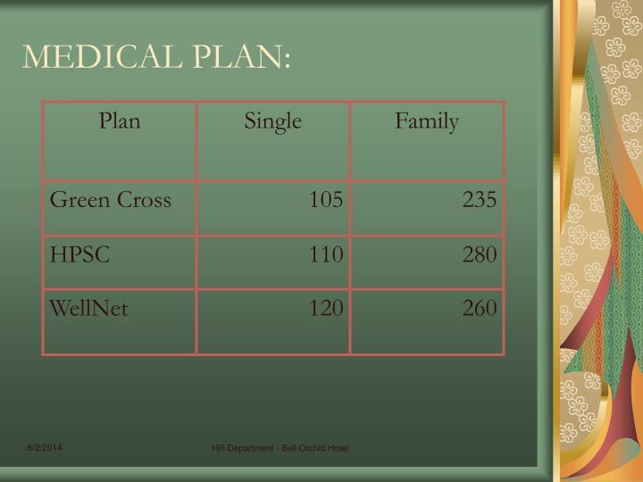 MEDICAL PLAN:
