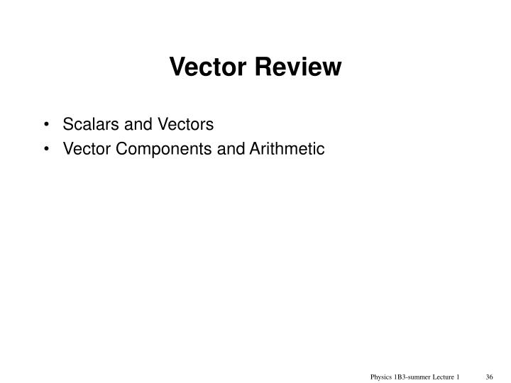 Vector Review