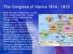 the congress of vienna 1814 1815