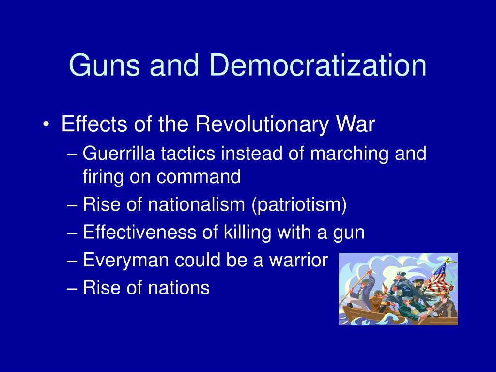 Guns and Democratization