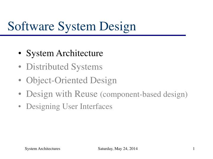 Ppt Software System Design Powerpoint Presentation Free Download Id 824398