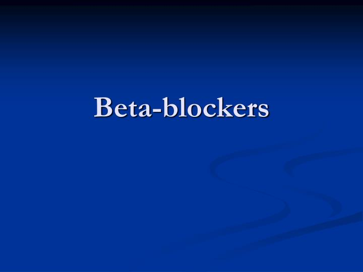 Beta-blockers