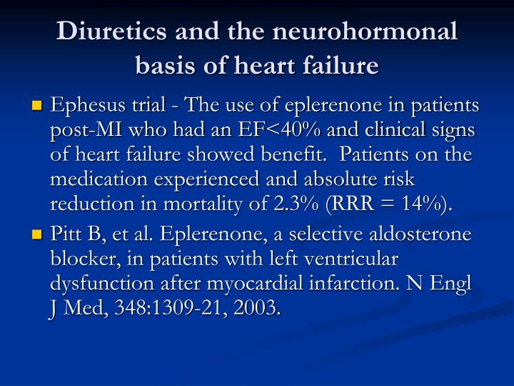Diuretics and the neurohormonal basis of heart failure